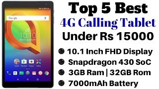Top 5 Best 4G Calling Tablet Under Rs 15000 In India 2019   February 2019