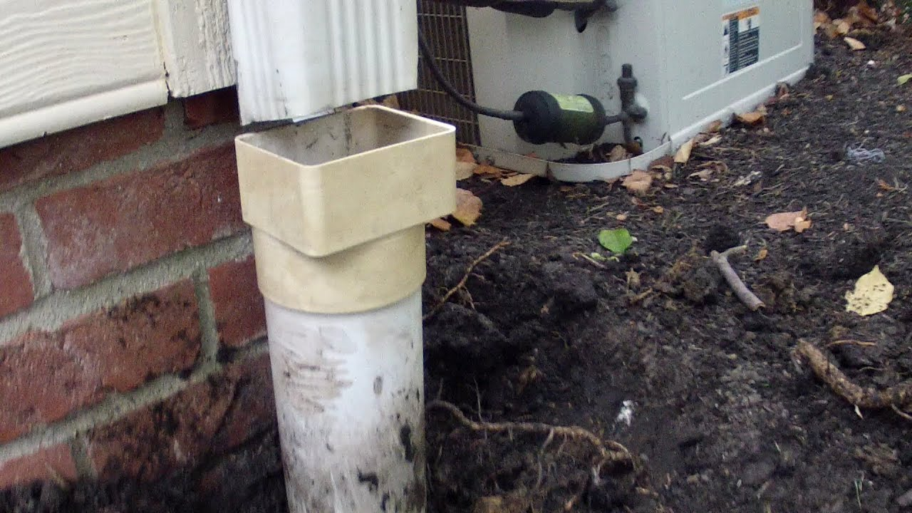 How To Repair Downspout To Pipe Adapter Do It Yourself