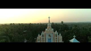 Drone view of Milagres Cathedral,kallianpur