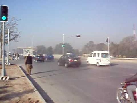 Vehicle Actuated Traffic Signal installed by PGE at Arport Rd Rawalpindi Pakistan