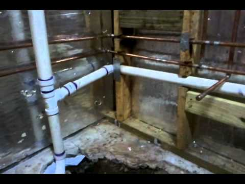 new basement bathroom plumbing youtube