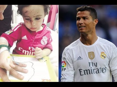 Cristiano Ronaldo(Real Madrid star) meets Lebanese boy orphaned by suicide bombing [FULL version HD]