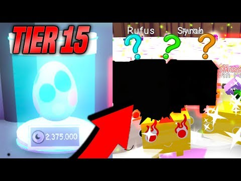 OPENING TONS OF GOLDEN TIER 15 PETS IN PET SIMULATOR! *RAREST* (Roblox)