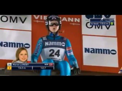 Ski jumping World Cup 2016 Ladies. Oslo. Maren Lundby NOR