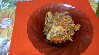 ТЕПЛЫЙ САЛАТ.  Вкусно, полезно и необычно. Теплый овощной салат. Рецепт.