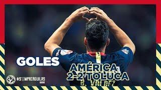 Toluca 2-2 Club América | RESUMEN Todos los goles Liguilla - 4tos Ida | Liga MX | Apertura 2018