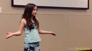 Kindness Speech By 10 Year Old Girl