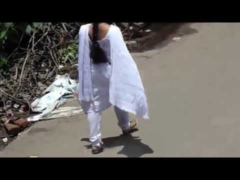 Ritika Going In Road Waring Salwar video