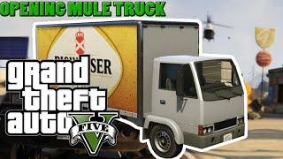 GTA ONLINE ( PC ) Opening the Back of a Mule Truck | GTA V Opening the Delivery Van