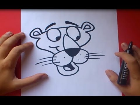 Como dibujar a la pantera rosa paso a paso | How to draw the pink panther