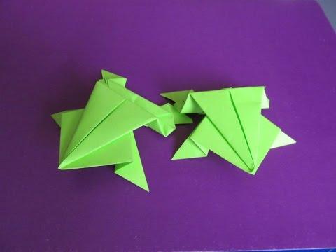 ПРЫГАЮЩАЯ ЛЯГУШКА. Оригами