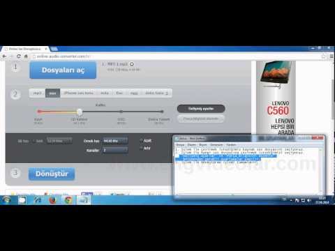 Online ses dönüştürücüsü mp3, wav, iphon, m4a, flac, ogg, mp2, amr ye çevirmek