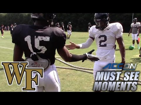 Wake Forest's Cortez Lewis Has A Handshake With Every Teammate