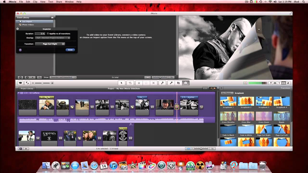 how to add a background to a video in imovie