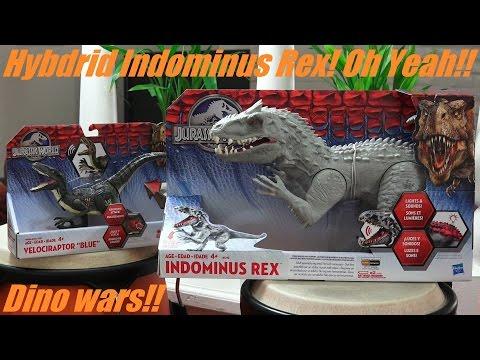 Dinosaur Toys: Jurassic World's Indominus Rex and Velociraptor Action Figures Unboxing & Playtime