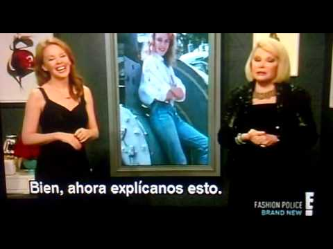 Kylie Minogue: Fashion Police British invasion (Subtitulado)