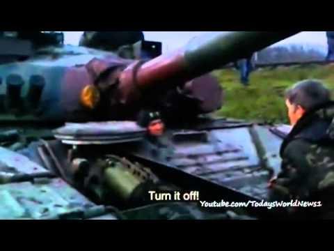 Ukraine crisis: Russian Lada 'chases tank in Sloviansk'
