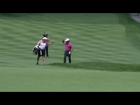 Graeme McDowell's punch and run rolls in for eagle at Bridgestone