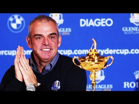 Paul McGinley to captain Europe at 2014 Ryder Cup