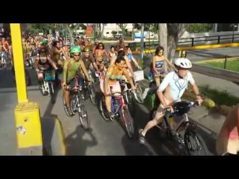 Ciclonudista Mundial Caracas 2015 World Naked Bike Ride