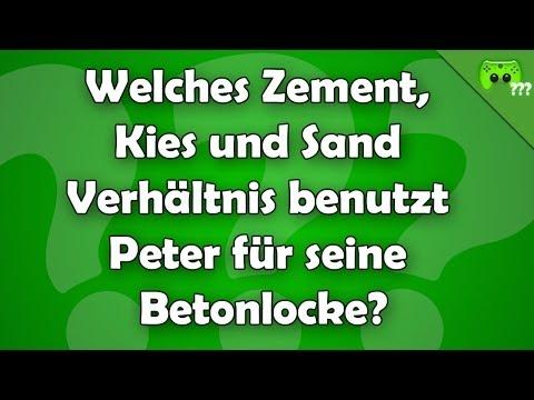 Welches Zement, Kies und Sand Verhältnis benutzt Peter für seine Betonlocke?