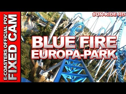 DE| On-ride video von der achterbahn Blue Fire Mega Coaster in Europa Park, freizeitpark nahe Rust, Deutschland. EN| On-board video of roller coaster Blue Fi...