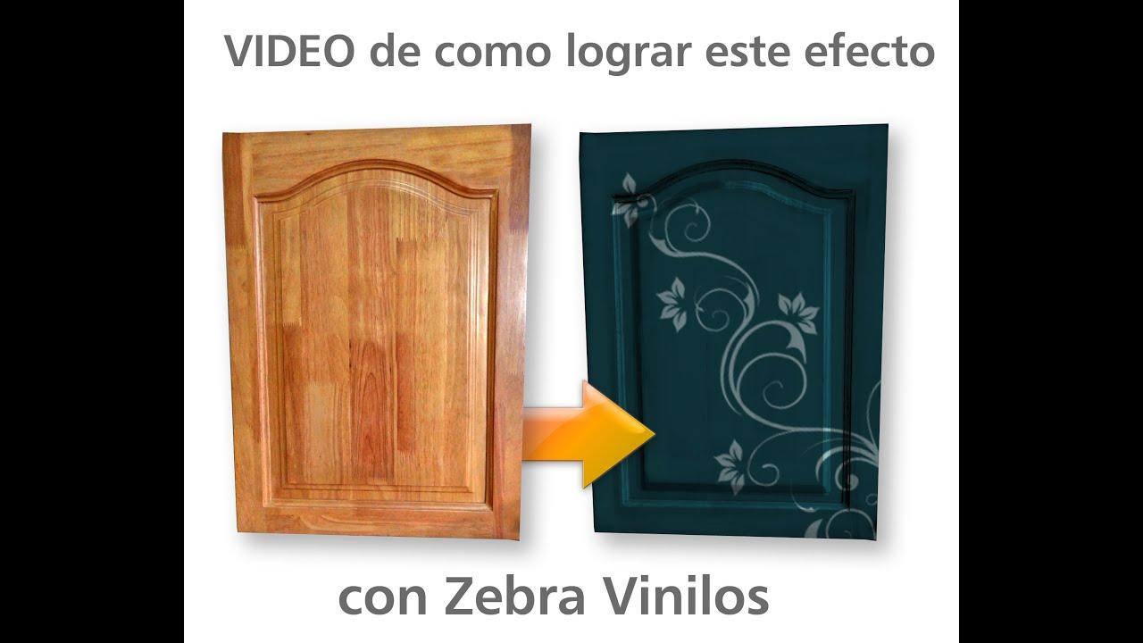 Tecnica para usar vinilos como m scara en puertas de cocina youtube - Vinilos imitacion madera para puertas ...