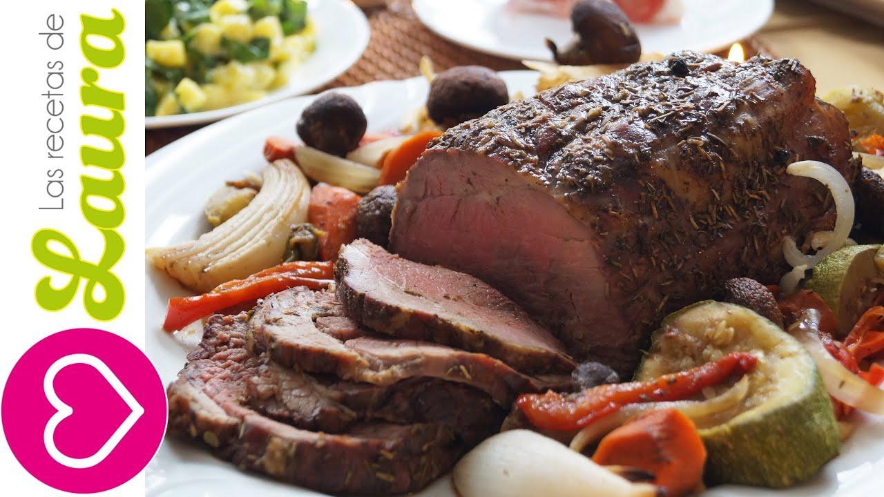 Jugosa carne al horno cena de navidad roast beef recipy - Que cocinar en navidad facil ...