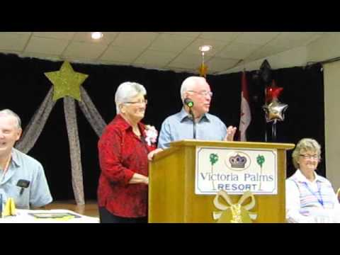 Ray and Shirley Warfield at Victoria Palms RV Resort 2012 50th Wedding Anniversary