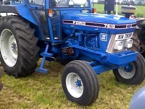 Restored Ford 7610 tractor
