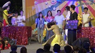 """Lô tô show: Dương Thanh Vàng chửi Lộ Lộ té tát..không kịp vuốt mặt phải """"quỳ lạy"""" làmkhán giả reo hò"""