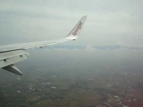 Spicejet B737-800 landing at Coimbatore
