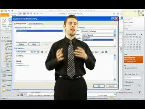 how to add signature in outlook 2010 automatically