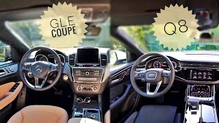 2019 AUDI Q8 vs 2016 MERCEDES GLE COUPE - INTERIOR