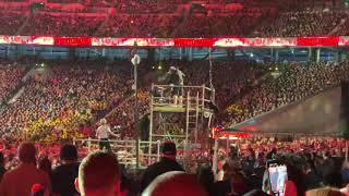 Shane McMahon gets suplexed off of scaffold by the Miz #wrestlemania35 #wrestling #wwe