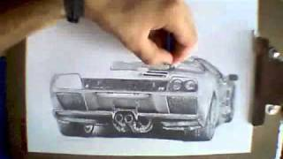 Lamborghini Diablo - Speed Drawing
