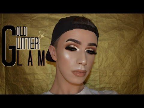 GOLD GLITTER SMOKEY EYE   Makeup Tutorial   Mitchell MUA