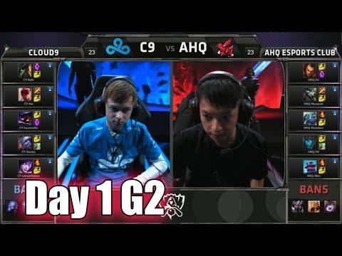 Cloud 9 vs ahq e-Sports Club | Day 1 Game 2 Group B LoL S5 World Championship 2015 | C9 vs AHQ D1G2