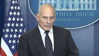 White House press briefing: Chief of Staff John Kelly on how military deals with soldiers' death