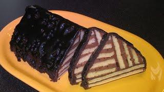 Простой домашний торт. Шоколадный крем. Как сделать глазурь.