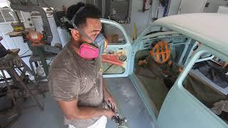 1974 VW Beetle Garage Paint Job