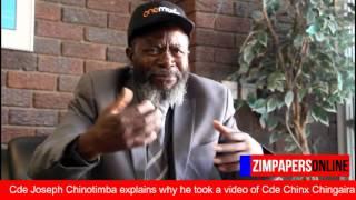 Cde Joseph Chinotimba explains why he took a video of Cde Chinx Chingaira
