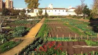 Huertos de Ocio Parque Miraflores Sevilla en 3D. canal de Youtube camaragus