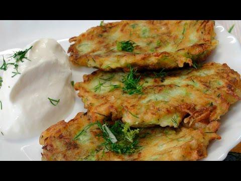Пышные оладьи из кабачков - простой рецепт