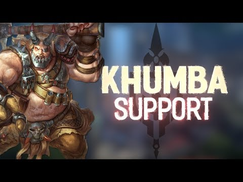 KHUMBA RANKED SUPPORT: SUPER UNDERATED SUPPORT!!! - Incon - Smite