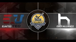 SWC 2018 Semifinals eUnited vs Obey Alliance Game 1