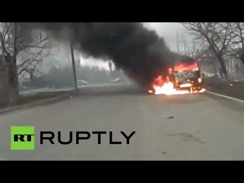 RAW: Footage from shelled Mariupol in southeastern Ukraine