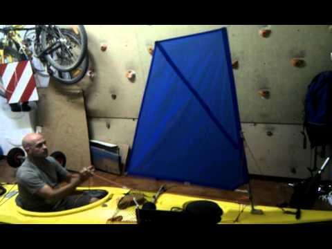 C mo fabricar una vela casera para el kayak desplegando for Como fabricar velas caseras