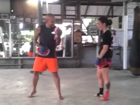 Multiple elbows shown by Taywin - Lanna Muay Thai Image 1