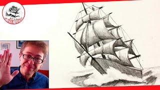 How to Draw a Ship with Pencil Drawing Techniques